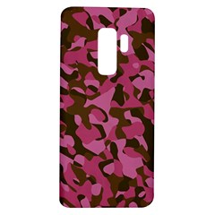 Pink And Brown Camouflage Samsung Galaxy S9 Plus Tpu Uv Case by SpinnyChairDesigns