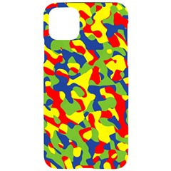 Colorful Rainbow Camouflage Pattern Iphone 11 Pro Max Black Uv Print Case by SpinnyChairDesigns