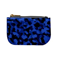 Black And Blue Camouflage Pattern Mini Coin Purse