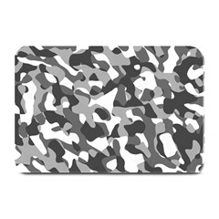 Grey And White Camouflage Pattern Plate Mats