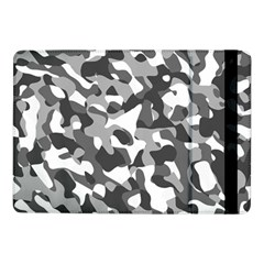 Grey And White Camouflage Pattern Samsung Galaxy Tab Pro 10 1  Flip Case