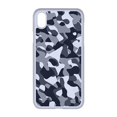 Grey And White Camouflage Pattern Iphone Xr Seamless Case (white)