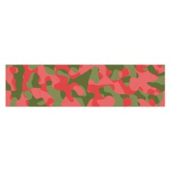 Pink And Green Camouflage Pattern Satin Scarf (oblong) by SpinnyChairDesigns