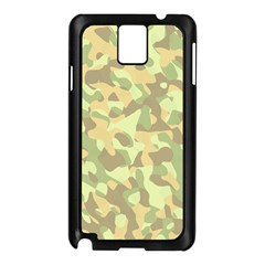 Light Green Brown Yellow Camouflage Pattern Samsung Galaxy Note 3 N9005 Case (black) by SpinnyChairDesigns