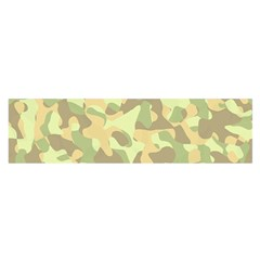 Light Green Brown Yellow Camouflage Pattern Satin Scarf (oblong)