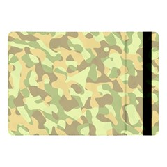 Light Green Brown Yellow Camouflage Pattern Apple Ipad 9 7 by SpinnyChairDesigns