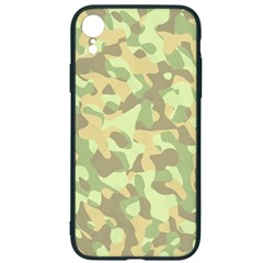 Light Green Brown Yellow Camouflage Pattern Iphone Xr Soft Bumper Uv Case