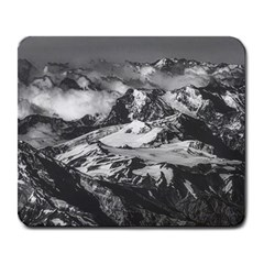 Black And White Andes Mountains Aerial View, Chile Large Mousepads