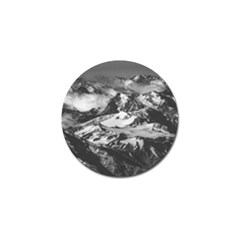 Black And White Andes Mountains Aerial View, Chile Golf Ball Marker (4 Pack)