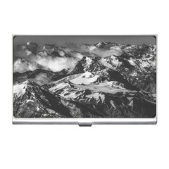 Black And White Andes Mountains Aerial View, Chile Business Card Holder