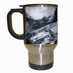Black And White Andes Mountains Aerial View, Chile Travel Mugs (white)