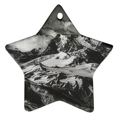 Black And White Andes Mountains Aerial View, Chile Star Ornament (two Sides)