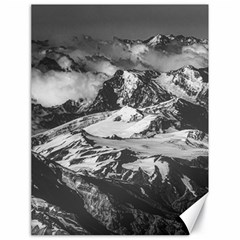 Black And White Andes Mountains Aerial View, Chile Canvas 18  X 24