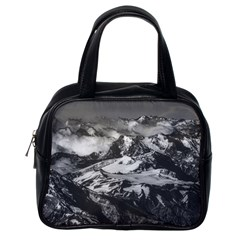 Black And White Andes Mountains Aerial View, Chile Classic Handbag (one Side)