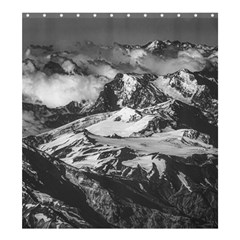 Black And White Andes Mountains Aerial View, Chile Shower Curtain 66  X 72  (large)