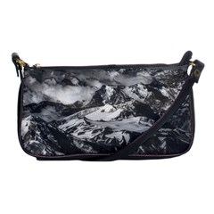 Black And White Andes Mountains Aerial View, Chile Shoulder Clutch Bag