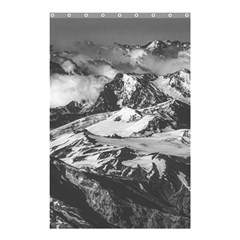 Black And White Andes Mountains Aerial View, Chile Shower Curtain 48  X 72  (small)
