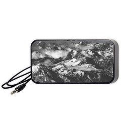 Black And White Andes Mountains Aerial View, Chile Portable Speaker