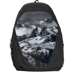 Black And White Andes Mountains Aerial View, Chile Backpack Bag