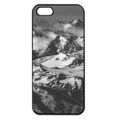 Black And White Andes Mountains Aerial View, Chile Iphone 5 Seamless Case (black)