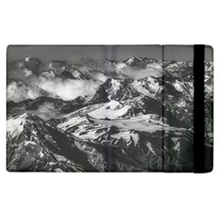 Black And White Andes Mountains Aerial View, Chile Apple Ipad 3/4 Flip Case