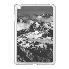 Black And White Andes Mountains Aerial View, Chile Apple Ipad Mini Case (white)