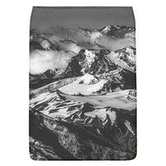 Black And White Andes Mountains Aerial View, Chile Removable Flap Cover (l)