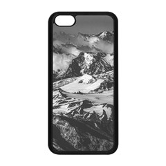 Black And White Andes Mountains Aerial View, Chile Iphone 5c Seamless Case (black)