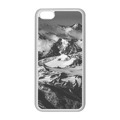 Black And White Andes Mountains Aerial View, Chile Iphone 5c Seamless Case (white)