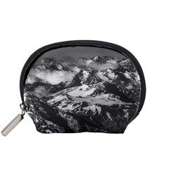 Black And White Andes Mountains Aerial View, Chile Accessory Pouch (small)