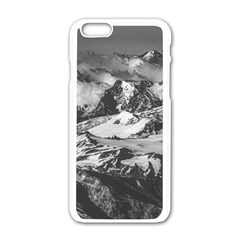 Black And White Andes Mountains Aerial View, Chile Iphone 6/6s White Enamel Case