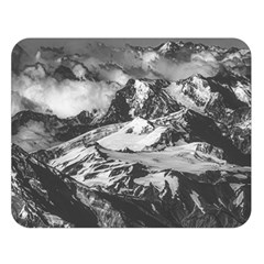 Black And White Andes Mountains Aerial View, Chile Double Sided Flano Blanket (large)