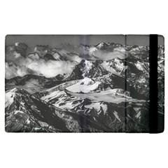 Black And White Andes Mountains Aerial View, Chile Apple Ipad Pro 9 7   Flip Case