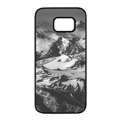 Black And White Andes Mountains Aerial View, Chile Samsung Galaxy S7 Edge Black Seamless Case