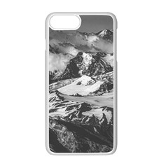 Black And White Andes Mountains Aerial View, Chile Iphone 7 Plus Seamless Case (white)