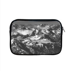 Black And White Andes Mountains Aerial View, Chile Apple Macbook Pro 15  Zipper Case by dflcprintsclothing
