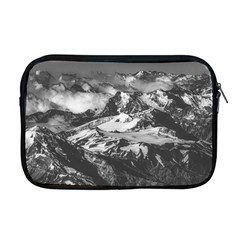 Black And White Andes Mountains Aerial View, Chile Apple Macbook Pro 17  Zipper Case