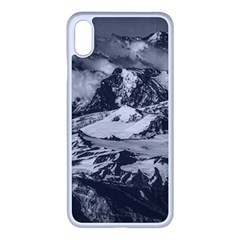 Black And White Andes Mountains Aerial View, Chile Iphone Xs Max Seamless Case (white)