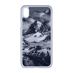 Black And White Andes Mountains Aerial View, Chile Iphone Xr Seamless Case (white)