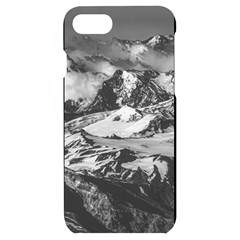 Black And White Andes Mountains Aerial View, Chile Iphone 7/8 Black Uv Print Case