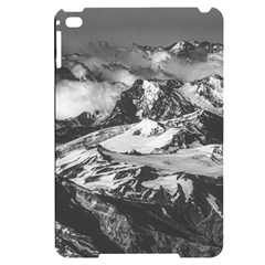 Black And White Andes Mountains Aerial View, Chile Apple Ipad Mini 4 Black Uv Print Case