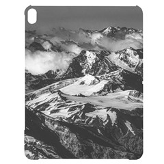 Black And White Andes Mountains Aerial View, Chile Apple Ipad Pro 12 9   Black Uv Print Case