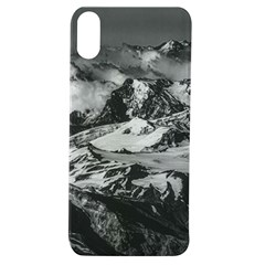 Black And White Andes Mountains Aerial View, Chile Apple Iphone Xs Tpu Uv Case