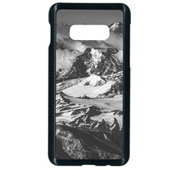 Black And White Andes Mountains Aerial View, Chile Samsung Galaxy S10e Seamless Case (black) by dflcprintsclothing