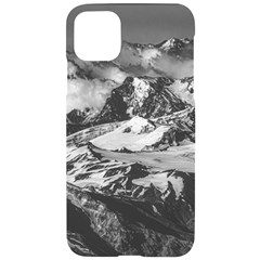Black And White Andes Mountains Aerial View, Chile Iphone 11 Pro Max Black Uv Print Case