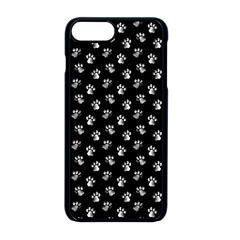 Cat Dog Animal Paw Prints Black And White Iphone 8 Plus Seamless Case (black)