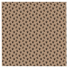Cat Dog Animal Paw Prints Pattern Brown Black Wooden Puzzle Square