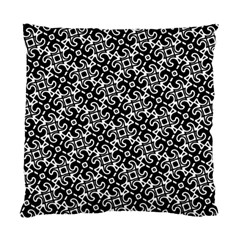 Black And White Decorative Design Pattern Standard Cushion Case (one Side)