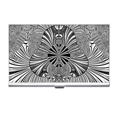 Abstract Art Black And White Floral Intricate Pattern Business Card Holder
