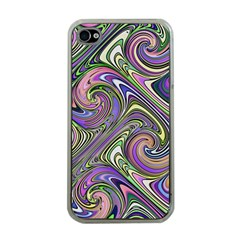 Abstract Art Purple Swirls Pattern Iphone 4 Case (clear)